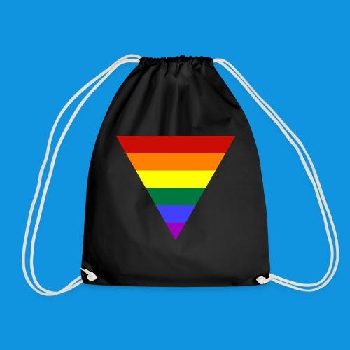 Pride Triangle pocket tank - Drawstring Bag