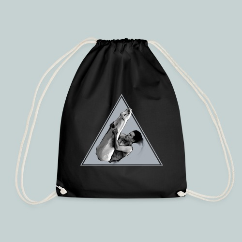 I just love to fly trampolining boy hoodie - Drawstring Bag
