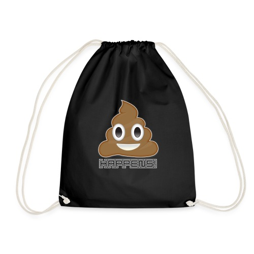 Emoji Poo Happens Funny Joke - Drawstring Bag