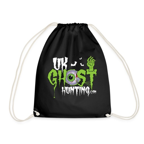 UK Ghost Hunting Eyball Logo - Drawstring Bag