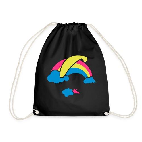 Rainbow & Clouds Paragliding - Drawstring Bag