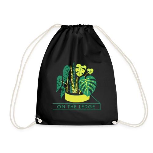On The Ledge green logo print - Drawstring Bag
