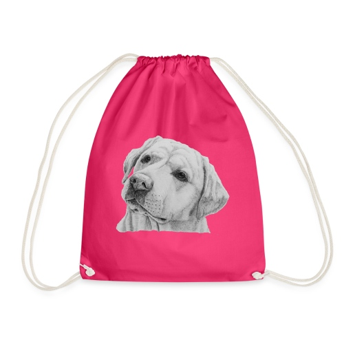 labrador retriever yellow - head - Sportstaske