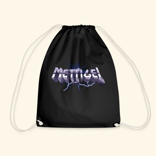 Mettigel T Shirt Design Heavy Metal Schriftzug - Turnbeutel