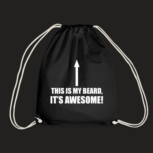 MY BEARD.png - Drawstring Bag