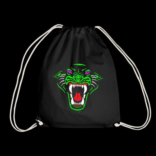 Panther logo tshiret png - Drawstring Bag