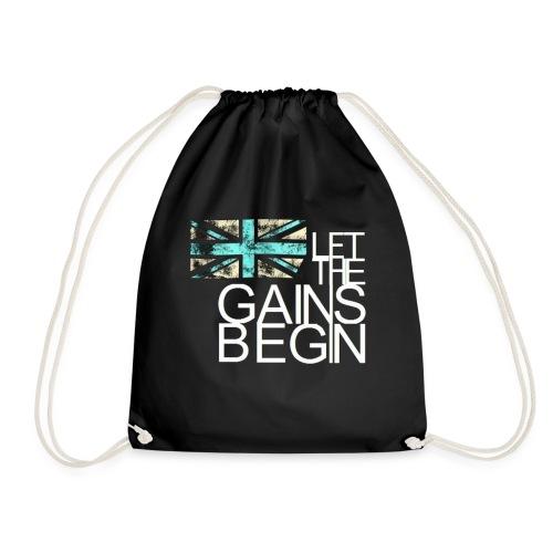 Great Britain let the games begin design. - Drawstring Bag