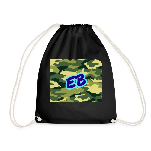 Ellibradyoffical green camo - Drawstring Bag