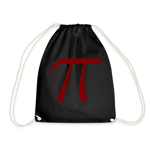 pi red t-shirt - Drawstring Bag