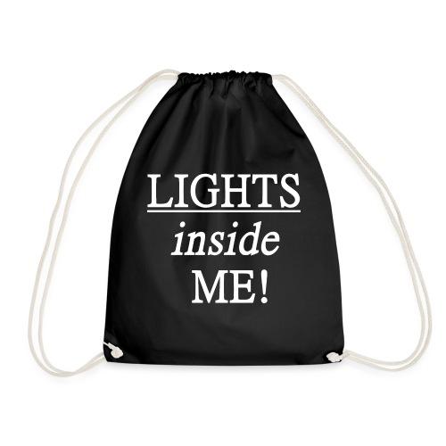 Lights inside me! weiß - Turnbeutel