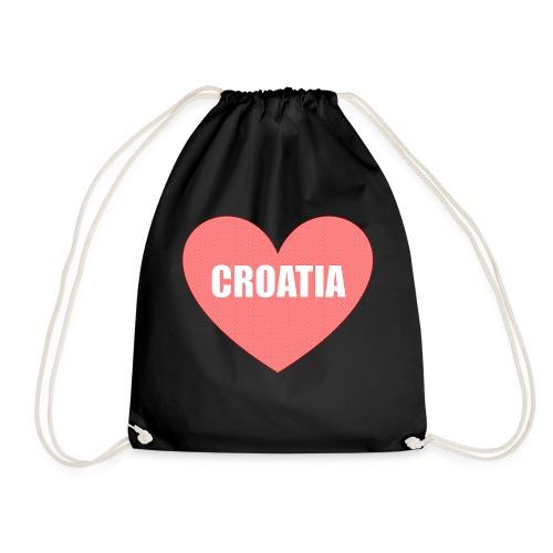 Kroatien_Design_Herz - Turnbeutel
