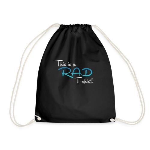 This Is A Rad T-Shirt - Blue - Drawstring Bag