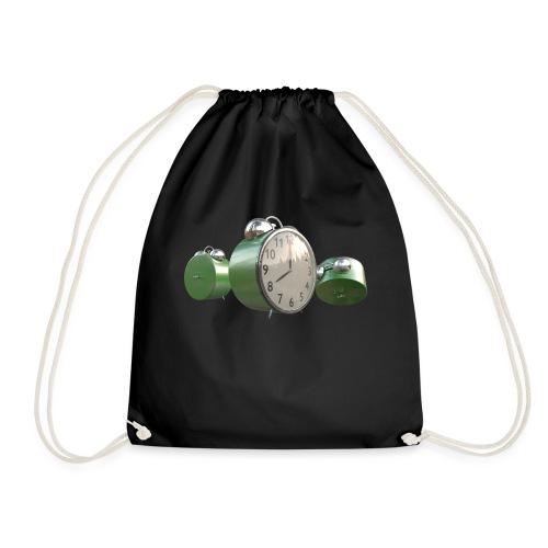 Green Worn Alarm Clock - Drawstring Bag