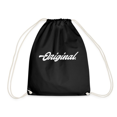 Original Lettering [White] - Drawstring Bag