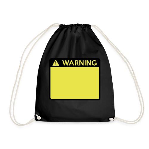 Warning Sign (2 colour) - Drawstring Bag