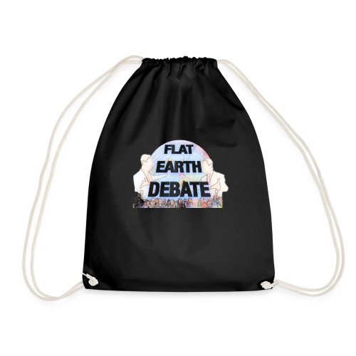 Flat Earth Debate Cartoon - Drawstring Bag