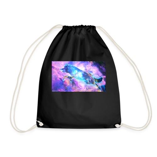 galaxy wolf - Drawstring Bag
