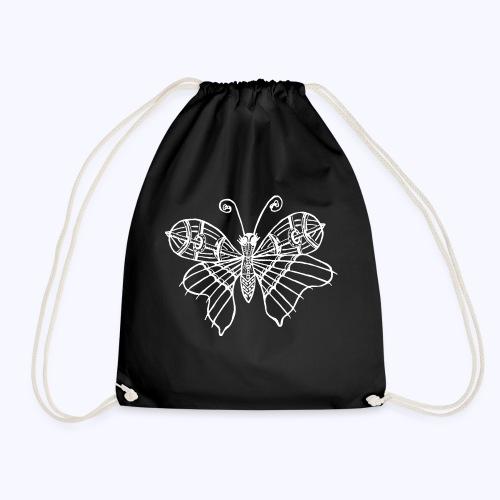 Schmetterling weiss - Turnbeutel