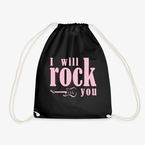 I will rock you design rosa - Sacca sportiva