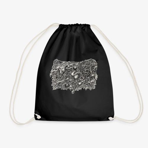 Grotesque No1 by Brian Benson - Drawstring Bag
