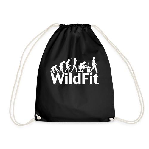 WildFit Logo Evolution Weiß - Turnbeutel