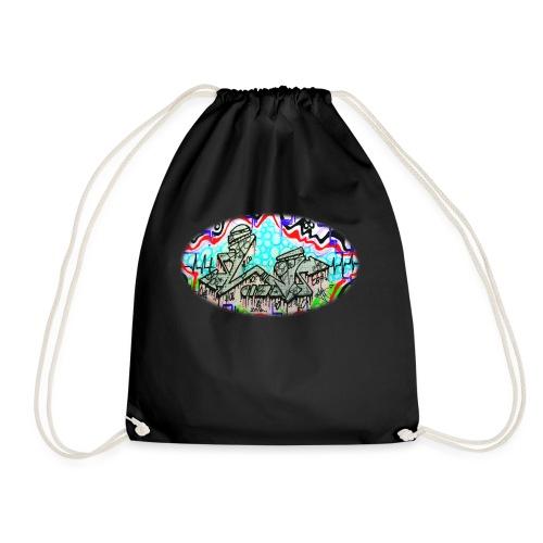Across the Tracks Blur - Drawstring Bag