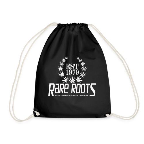 RARE ROOTS WHITE - Drawstring Bag