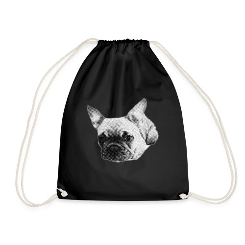 frenchie sketch - Drawstring Bag