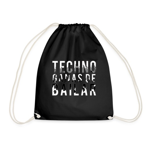 Camiseta TECHNO GANAS DE BAILAR - Mochila saco