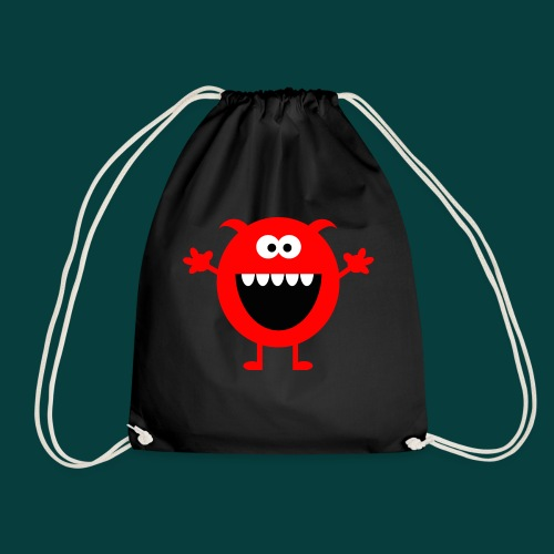 Lachendes Rotes Monster - Turnbeutel