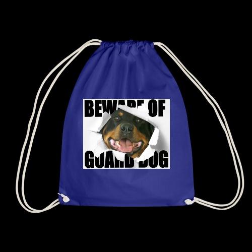 beware of guard dog - Drawstring Bag