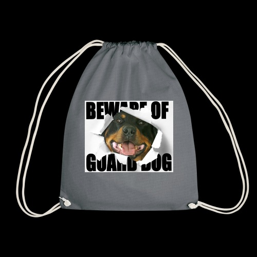 beware of guard dog - Drawstring Bag