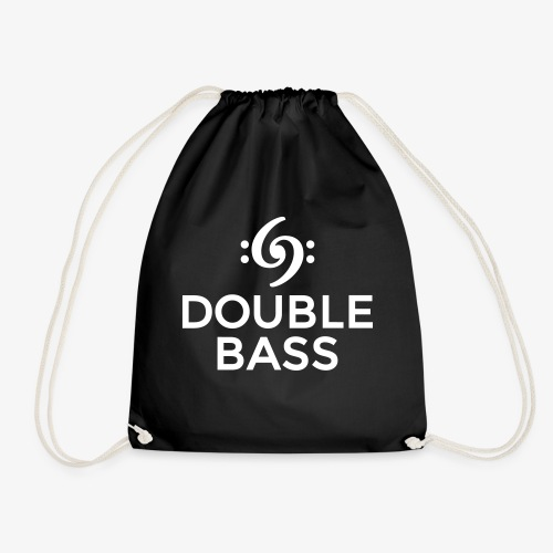 Double Bass Kontrabass Design (Weiß) - Turnbeutel