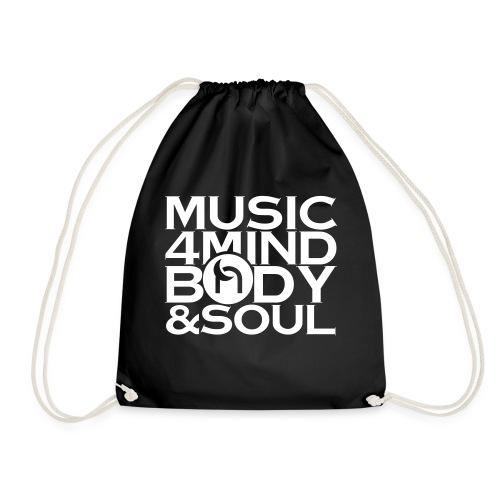 Music 4 Mind, Body & Soul White - Drawstring Bag