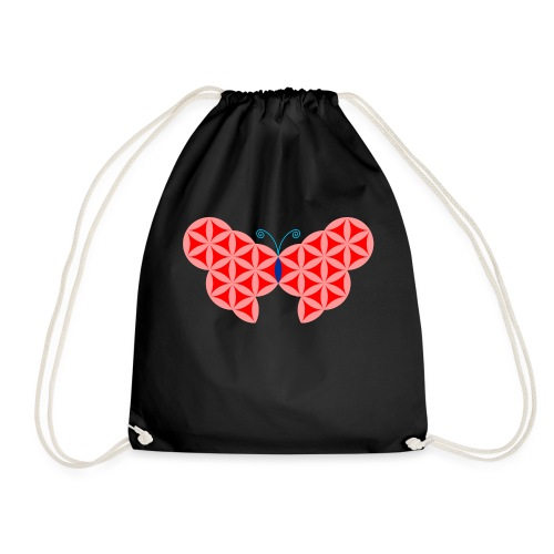 The Butterfly Of Life - Sacred Animals. - Drawstring Bag