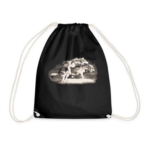 Wolf Loup Lupo Lobo - Drawstring Bag