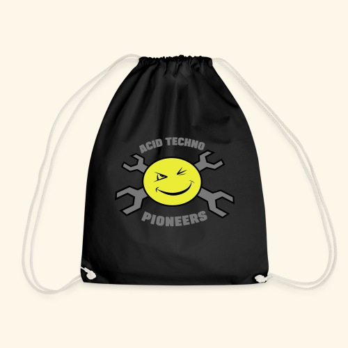 ACID TECHNO PIONEERS - SILVER EDITION - Drawstring Bag