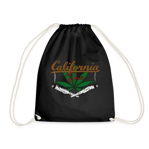 California Diet Cannabis Kiffen Hanf Geschenk - Turnbeutel