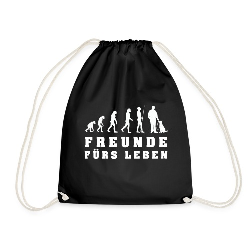 Evolution Friends for Life - Dog - Drawstring Bag