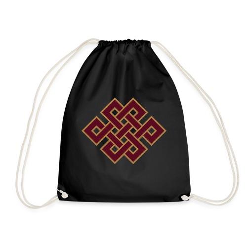Tibetanischer Endlos Knoten Buddhismus - Turnbeutel