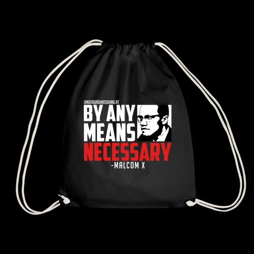 BY ANY MEANS NECESSARY - Malcom X - Turnbeutel