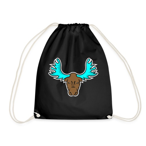 Albert the Moose Coffee Cup - Drawstring Bag