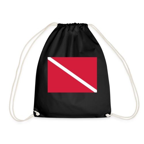 Diver Flag - Drawstring Bag