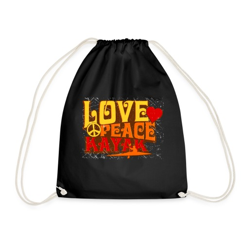 Love Peace Kayak - Drawstring Bag