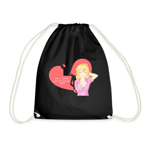 Let's just be friends - Drawstring Bag