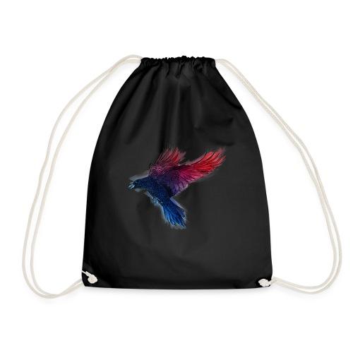 Watercolor Raven - Turnbeutel