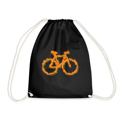 Fahrrad in Flammen - Turnbeutel