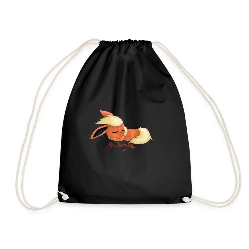 eevee - flareon - the sleppy one - Drawstring Bag