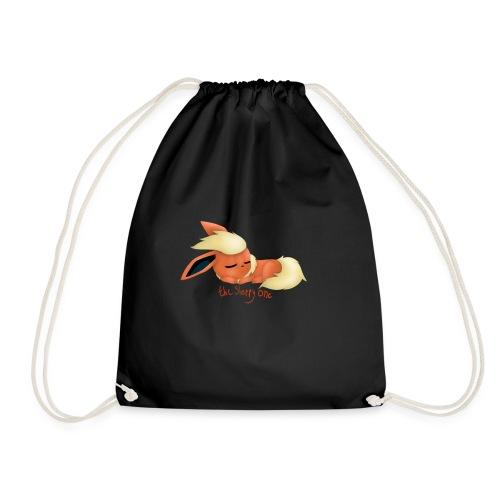 eevee - flareon - the sleppy one - Drawstring Bag