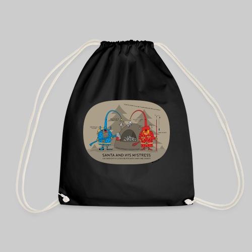VJocys Santa Blue - Drawstring Bag